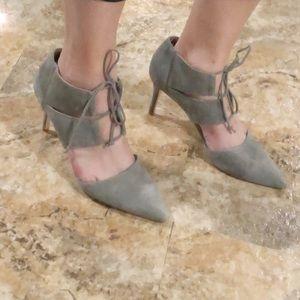 Ava & Aiden Suede Tie heels size 9.5